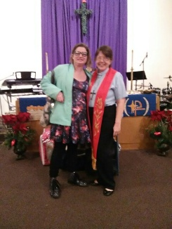 Laura and Pastor Aunt Highland Park Lrutheran Church